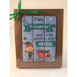 """Puzzle de chocolate- """"estas navidades te haré un regalo que no querrás devolver"""""""