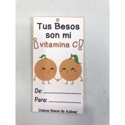 """Etiqueta """"tus besos son mi vitamina"""""""