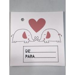 "Etiqueta ""Elefantes  amorosos"""