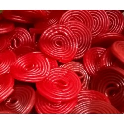 Discos de Regaliz rojo. 100 gr.