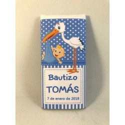 Tableta chocolate  bautizo cigüeña