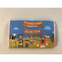 Chocolatina personalizada la granja de zenon