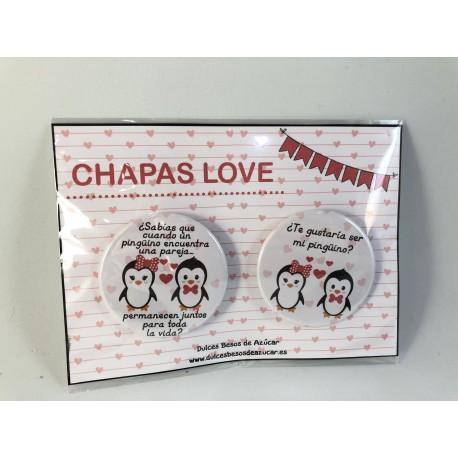 PACK CHAPAS PINGUINOS