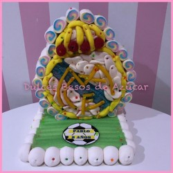 Tarta de chuches escudo real madrid
