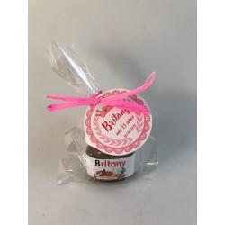 Mini Bote de Nutella personalizado con bolsa y etiqueta