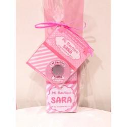 Tableta chocolate + espejo bautizo foto rosa