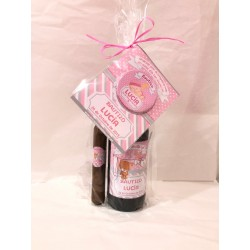 Pack cerveza bermeja + puro chocolate + abridor ropita rosa