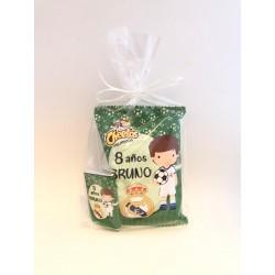 Bolsa Sanck Personalizada + chocolatina Fútbol Real Madrid