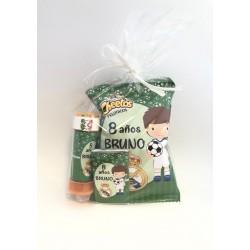 Bolsa Sanck Personalizada + chocolatina + pompero Fútbol Real Madrid