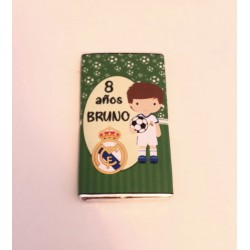 Chocolatina personalizada fútbol Real Madrid