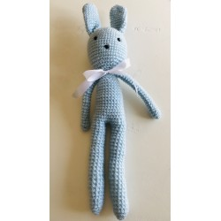 Conejo Amigurumi Azul