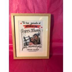 Cuadro Con lamina personalizada con foto para madre