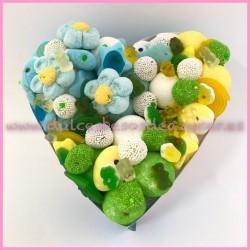 Corazón de Chuches Mediano azules