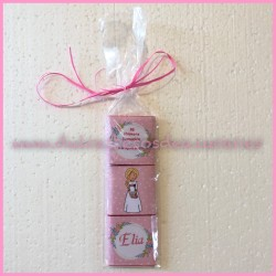 Pack napolitanas niña comunion rosa