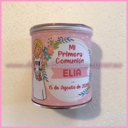 Bote Pringles niña comunión rosa