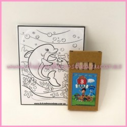 Pack 6 pinturas + láminas dibujo La Patrulla Canina