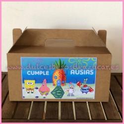 Caja regalo Picnic Cumpleaños Bob Esponja