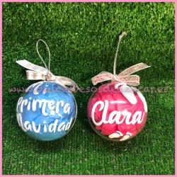 """Bola personalizada """"mi primera navidad """" con nombre"""