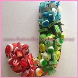 Tarta Chuches Letra J colores