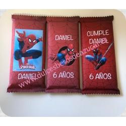 Pack 3 tabletas chocolate  Spiderman