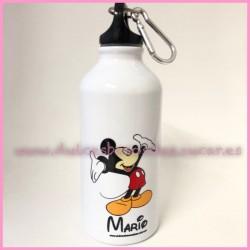 Botella aluminio Mickey y nombre