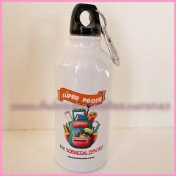 """Botella aluminio """"Súper profe"""""""