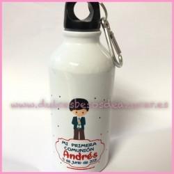 Botella aluminio comunión niño