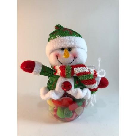 Bote chuches muñeco de nieve
